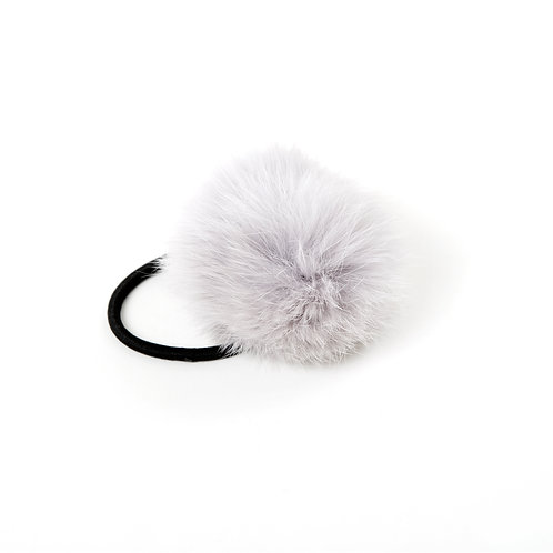 Rabbit Hair Tie - Light Grey