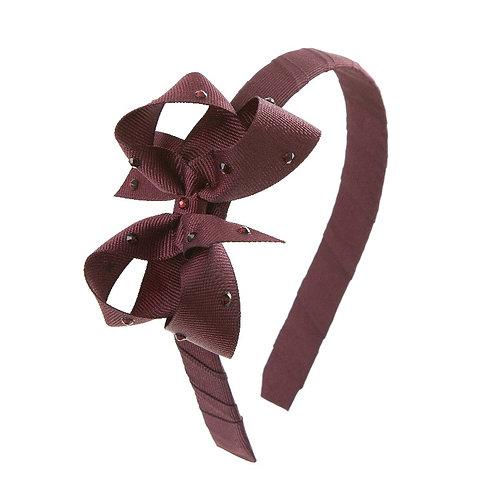 Bow Hairband - Burgundy