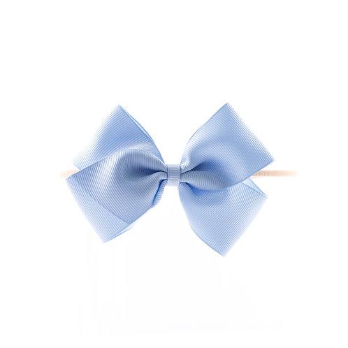 Medium London Bow Soft Hairband - Bluebird