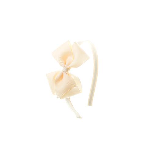 Medium London Bow Hairband - Ivory