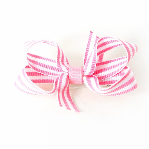 Small Bow - Pink Stripes