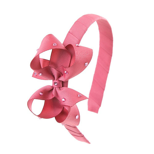Bow Hairband - Colonial Rose