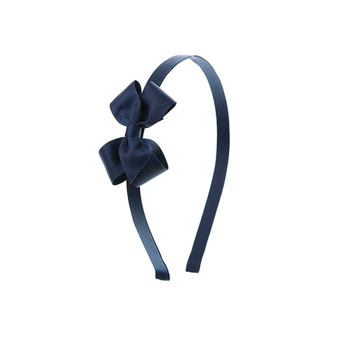 Small London Bow Hairband - Navy
