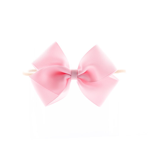 Medium London Bow Soft Hairband - Pearl Pink