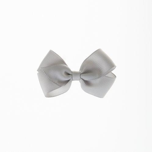 Small London Bow Hair Tie - Shell Grey