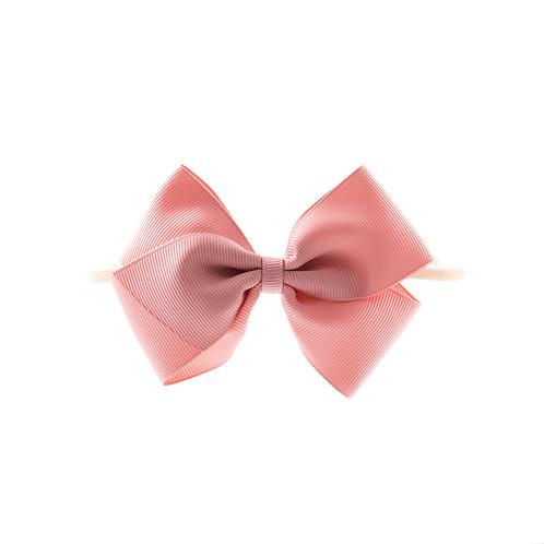 Medium London Bow Soft Hairband - Sweet Nectar