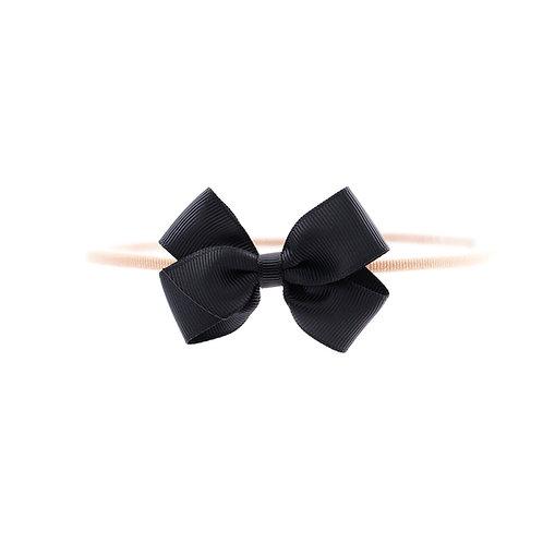 Small London Bow Soft Headband - Black
