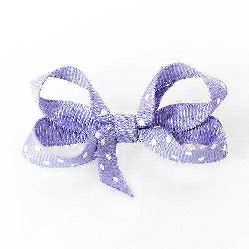 Small Bow - Tropic Lilac Polka Dot