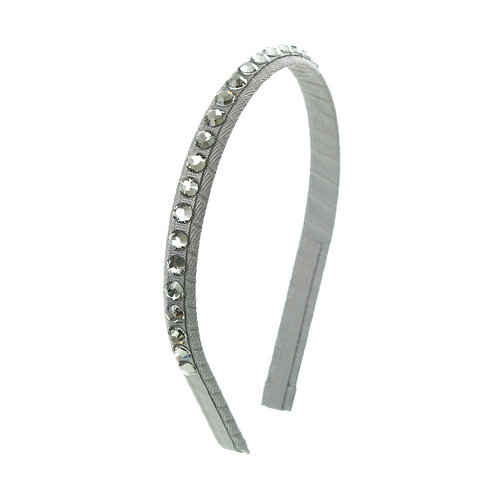 Deluxe Crystal Hairband - Silver