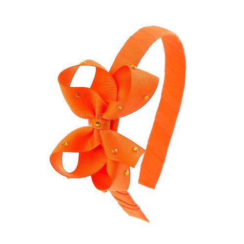 Bow Hairband - Tangerine