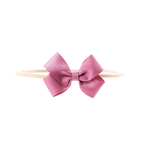 Small London Bow Soft Hairband - Wild Rose