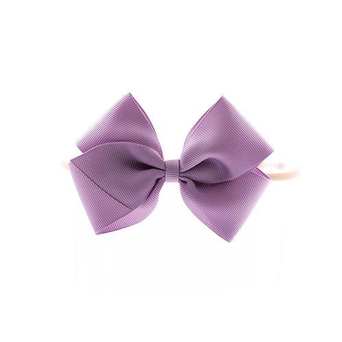 Medium London Bow Soft Hairband - Fresco