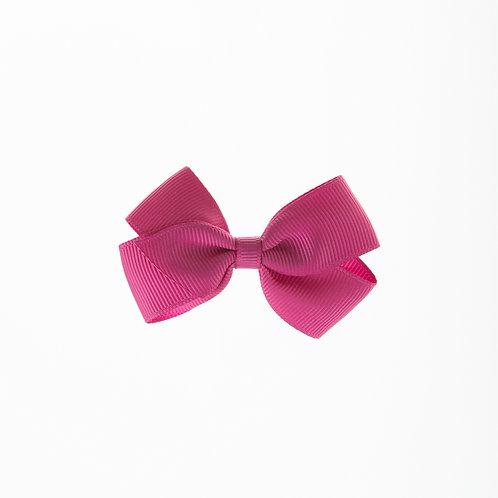 Small London Bow Hair Tie - Raspberry Rose