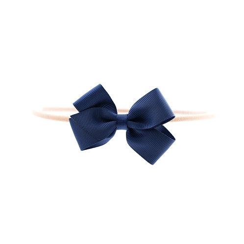 Small London Bow Soft Headband - Navy
