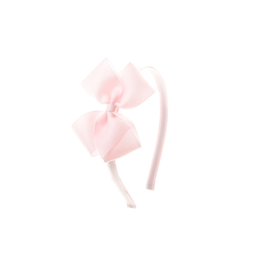 Medium London Bow Hairband - Powder Pink