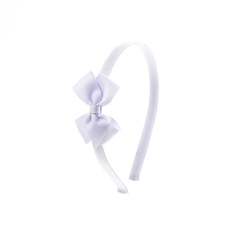Small London Bow Hairband - Lilac Mist