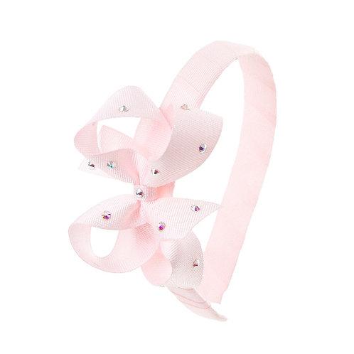 Bow Hairband - Powder Pink