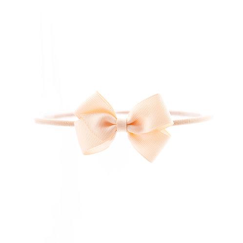 Small London Bow Soft Hairband - Nude