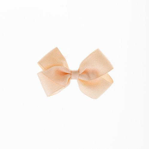 Small London Bow Hair Tie - Nude