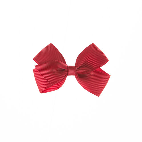 Small London Bow Hair Tie - Scarlet