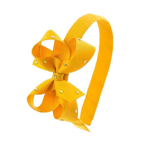 Bow Hairband - Mustard