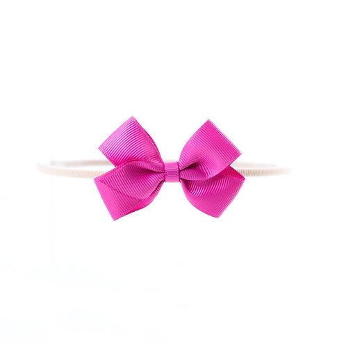 Small London Bow Soft Hairband - Azalea