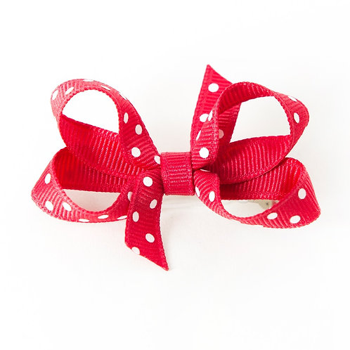 Small Bow - Red Dots