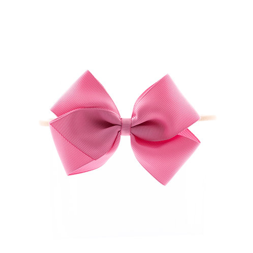 Medium London Bow Soft Hairband - Wild Rose