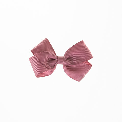 Small London Bow Hair Tie - Rosy Mauve
