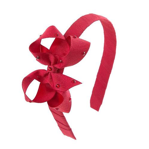 Bow Hairband - Scarlet