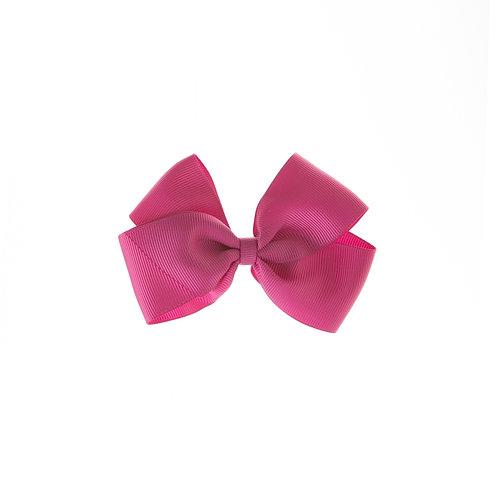 Medium London Bow Hair Tie - Raspberry Rose