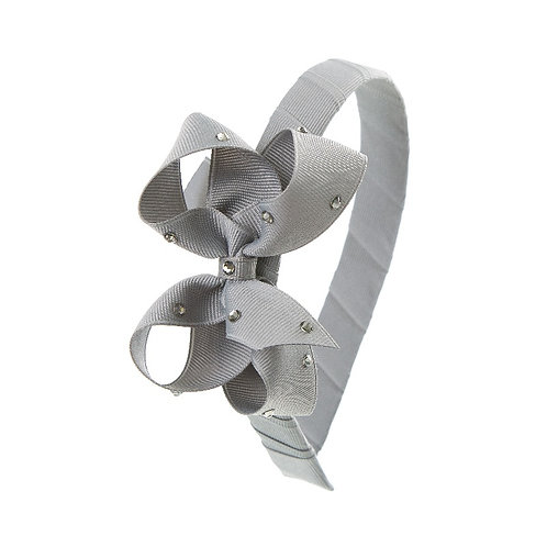 Bow Hairband - Silver
