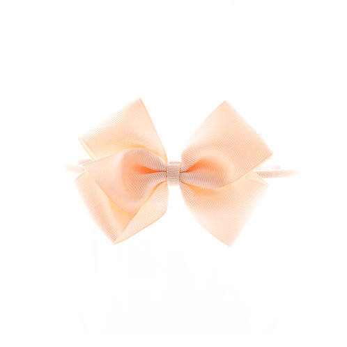 Medium London Bow Soft Hairband - Nude