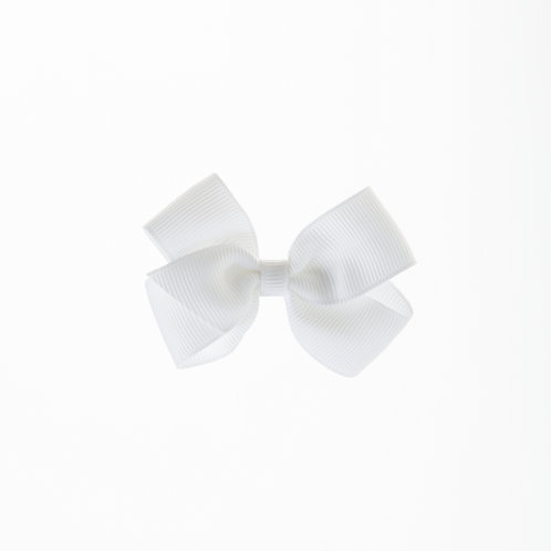 Small London Bow Hair Tie - White