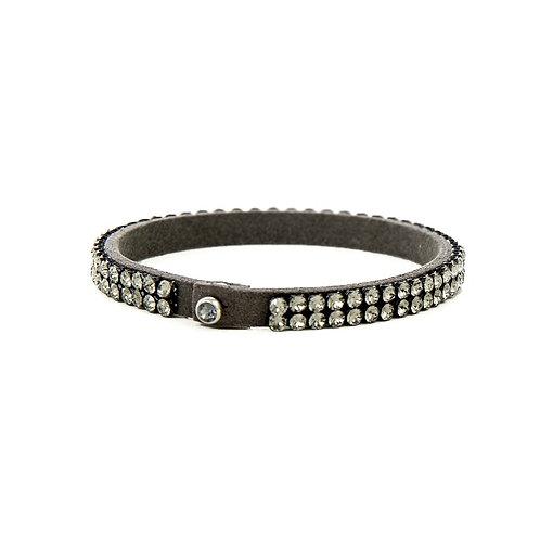 Two Row Single Wrap Bracelet - Black Diamond
