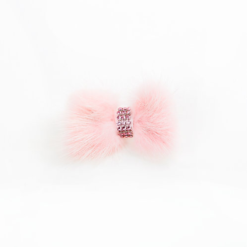 Mink Bow Hair Tie - Light Pink