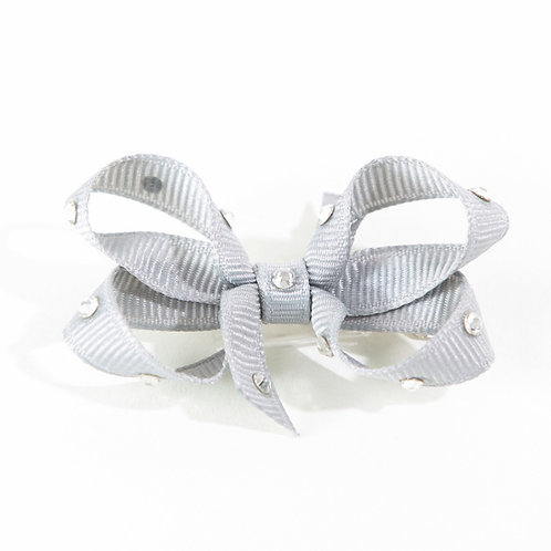 Small Bow - Shell Grey