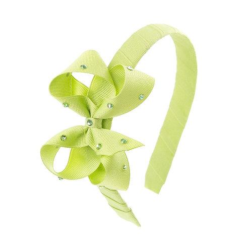Bow Hairband - Lemon Grass