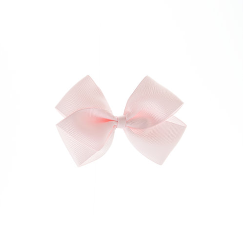 Medium London Bow Hair Tie - Powder Pink