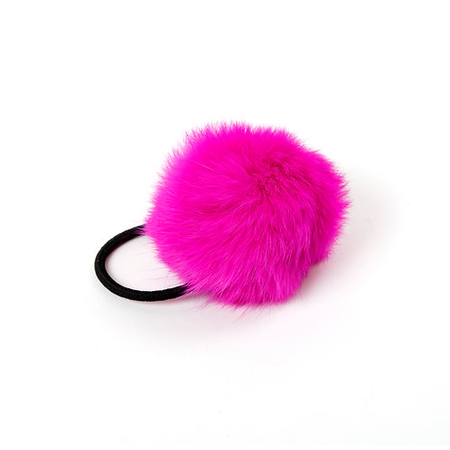 Rabbit Hair Tie - Shocking Pink
