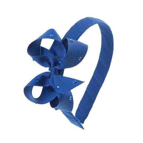 Bow Hairband - Cobalt