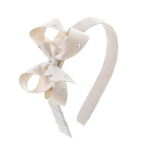 Bow Hairband - Cool Khaki
