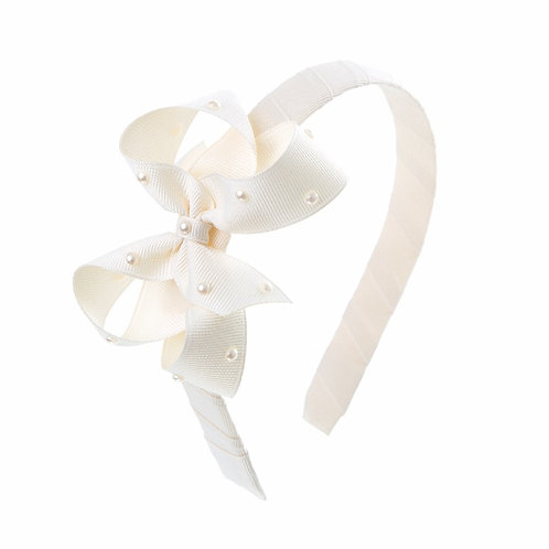 Bow Hairband - Ivory