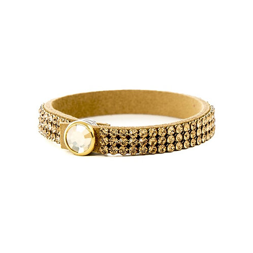 Three Row Single Wrap Bracelet - Light Colorado Topaz