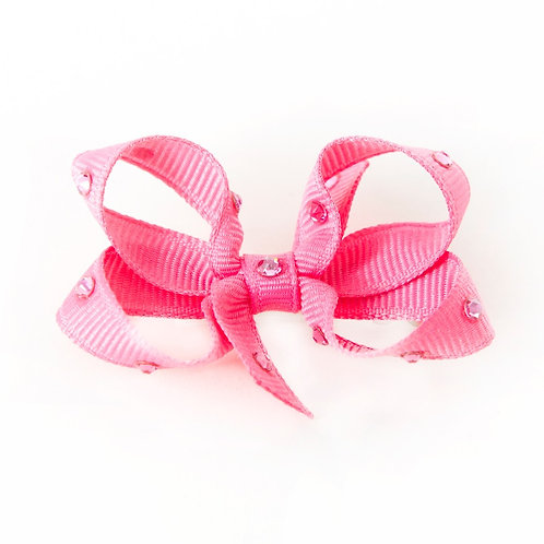 Small Bow - Hot Pink
