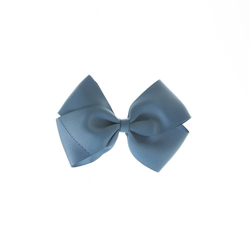 Medium London Bow Hair Tie - Antique Blue