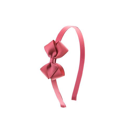 Small London Bow Headband - Colonial Rose