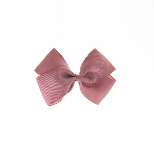 Medium London Bow Hair Tie - Rosy Mauve