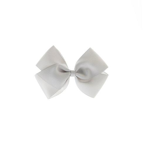 Medium London Bow Hair Tie - Shell Grey
