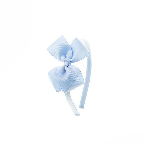 Medium London Bow Hairband - Bluebird
